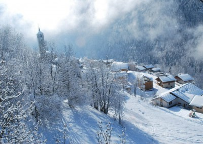 Peisey sous la neige